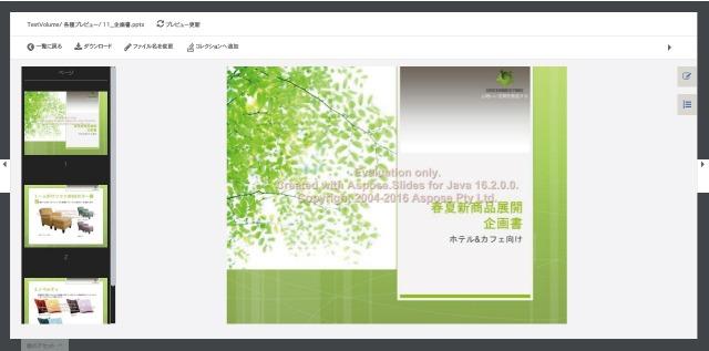 デジタルアセット管理(DAM)システム「CIERTO」:Officeデータプレビュー
